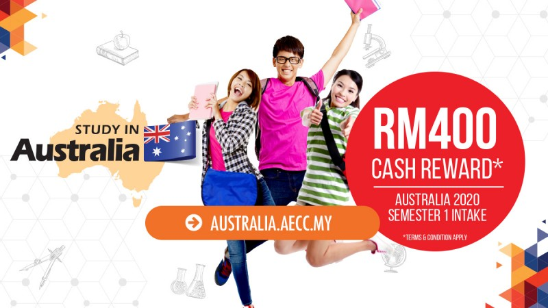 Cash Rewards for Study in Australia, Semester 1, 2020 Intake