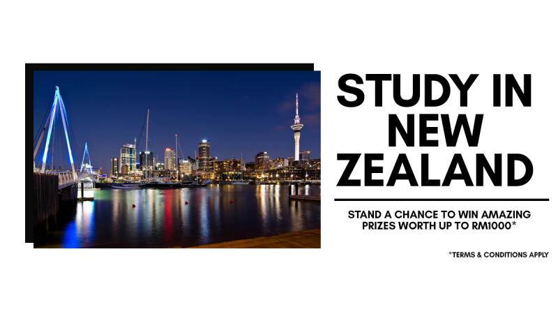 If you plan to study in New Zealand in 2020, Semester 1 (Feb – June Intake), apply through AECC Global Malaysia and you will stand a chance to win amazing prize worth up to RM1000! Wonder what the prizes are? STAY TUNED TO BE WOWED!