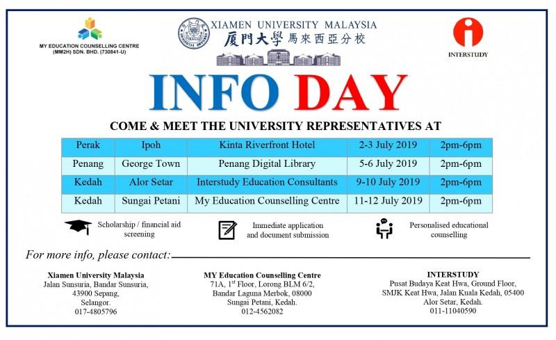 XIAMEN University Malaysia INFO DAY
