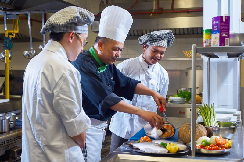 Culinary arts students will be trained in food preparation in the mock kitchen, inventory control, personnel management, basic accounting, and menu planning.