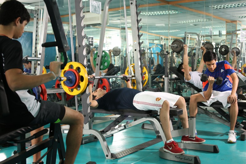 Fully-equipped fitness gymnasium