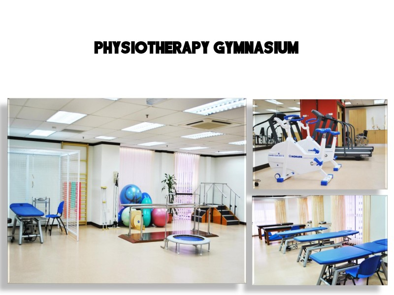 ICAN College's physiotherapy gymnasium is fully equipped for students.
