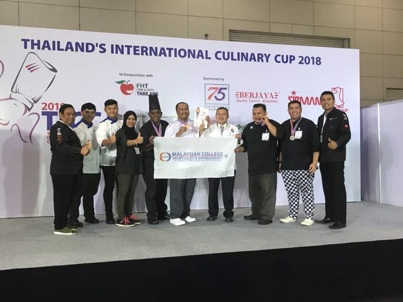 Lecturers and students participated Thailand's International Culinary Cup 2018