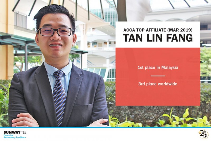 Aaron Tan Lin Fang - Top in Malaysia for ACCA Affiliates (March 2019)