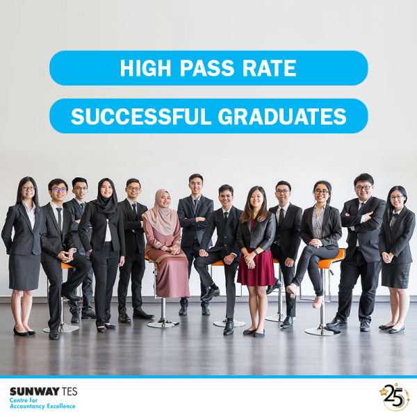 Sunway TES produces world-class professional accountants and achieves high pass rates.