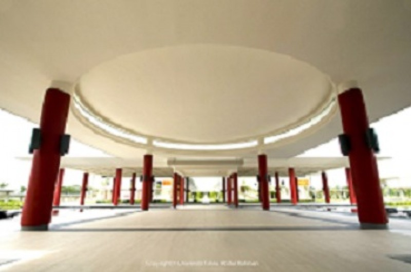 Unique interior of the Tun Ling Liong Sik Hall.