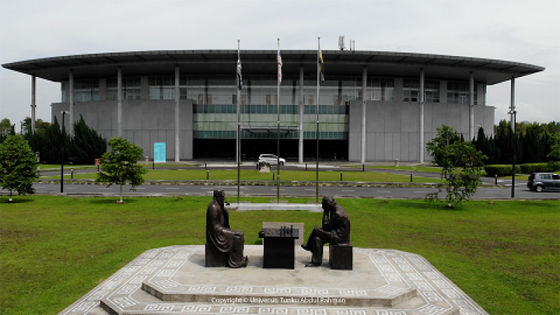 Heritage hall near the Universality of Learning and Thinking (Signature sculptures of UTAR).