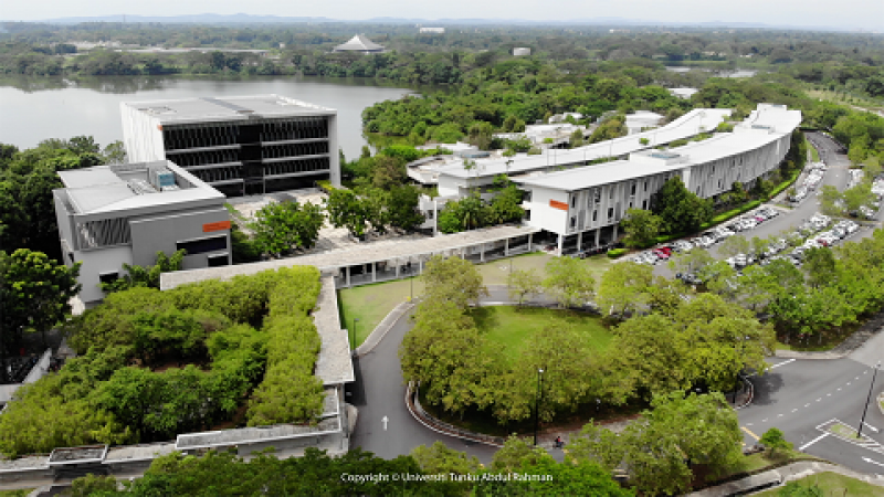 Library, lecture halls and laboratories that built by the beautiful lake side.