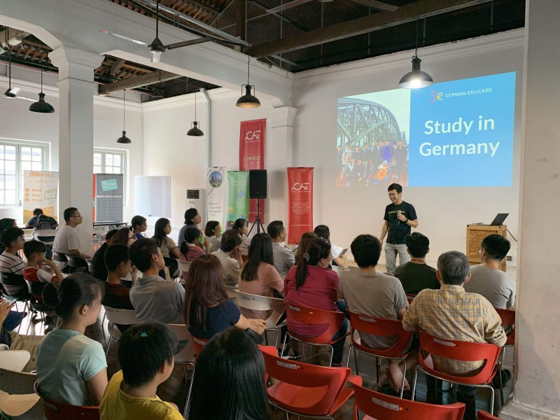 German Educare gives talk around Malaysia.