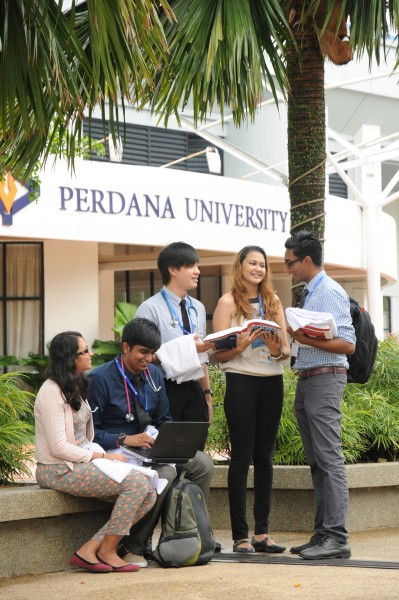 The spacious and green campus of Perdana University provides a comfortable learning environment for the students.
