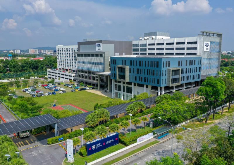宽敞的马来西亚伍伦贡伯乐学府格林玛丽大学城校区,提供学生优美的学习环境。