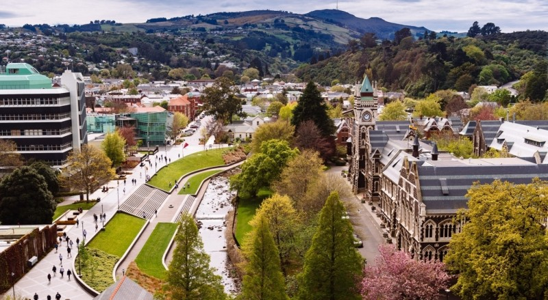 Beautiful Otago campus - photo courtesy of University of Otago