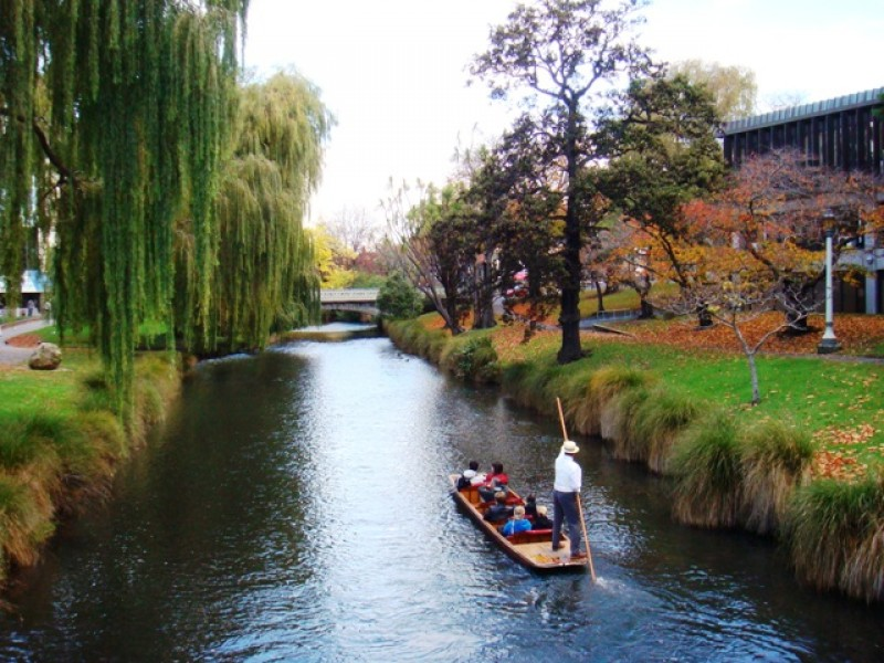 Avon river in Christchurch city