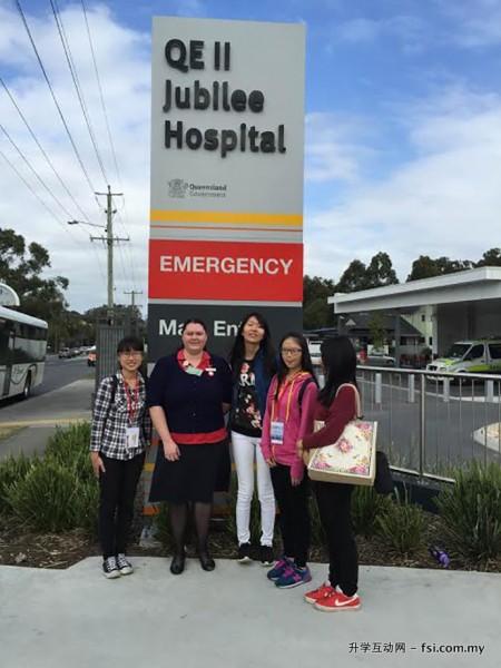 护理系举办海外学习团, 到澳洲吸收新知识。