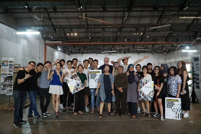 Group photo after class - Students and Lecturers of Interior Design programme