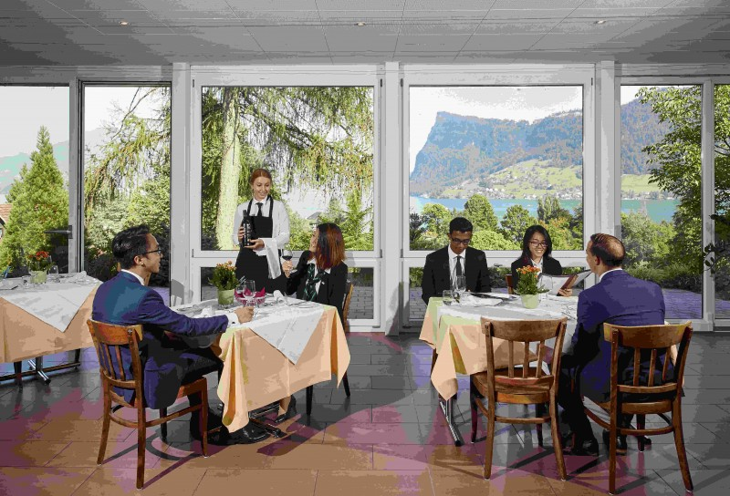 This is the Training restaurant called the Swiss Room