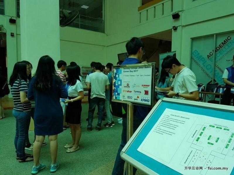 一年一度的职业展让学生掌握职场最新资讯,为将来做好准备。