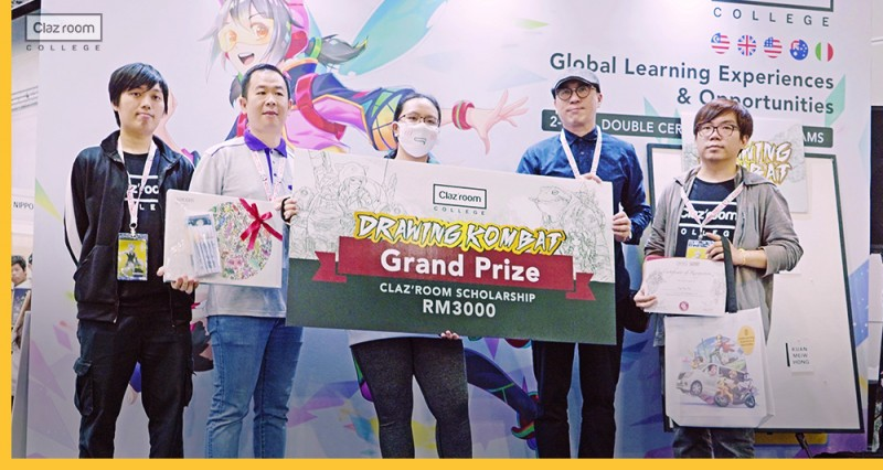 """A student won scholarship through participation in """"Drawing Kombat"""" competition"""