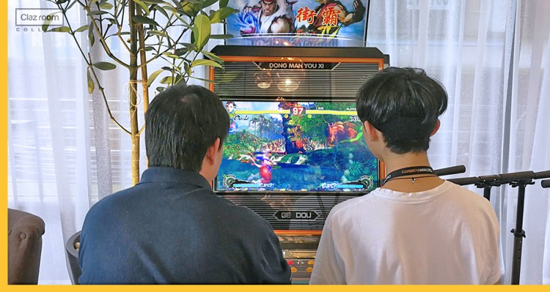Students are playing gaming arcade in enjoyable environment