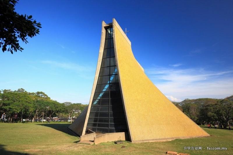 设计前卫的路思义教堂,成为东海大学的校园地标。