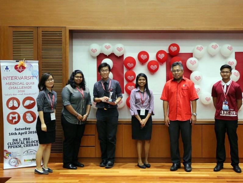 QIUP 医学系学生参与在马来西亚国立大学(University Kebangsaan Malaysia)举行的2016年度Intervarsity Medical Quiz,并获得第二名。(列为主图)