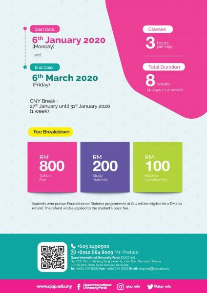 University Preparation Programme 2020