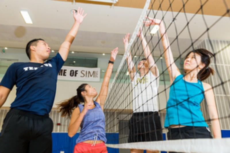 宽阔先进的体育馆,供学生进行休闲活动。