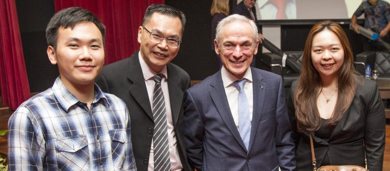 The advisory team and the Minister of Education and Skills of Ireland are looking forward to a stronger working relationship between the nations students and institutions. (From left to right: Mostly Yeo, Advisor of MyStudy; CK Chiau, co-founder of MyStudy; The Hon. Mr. Richard Bruton, Minister of Education and Skills of Ireland; Melissa Chin, Advisor of MyStudy.