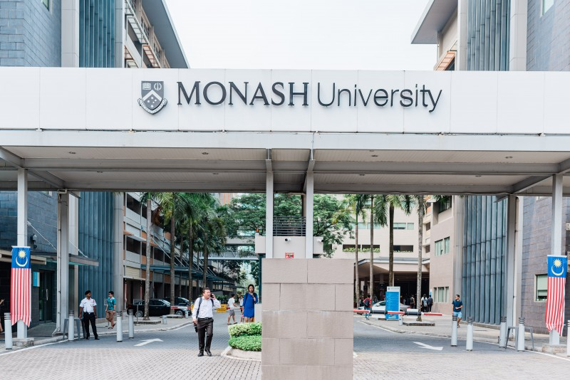Monash University Malaysia main entrance.