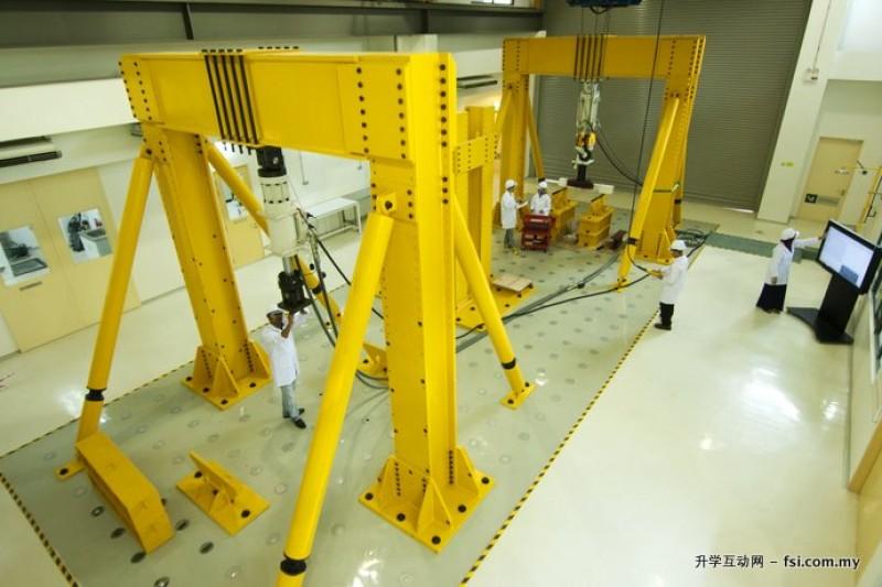 马来西亚蒙纳士大学设有全马第一间土木工程重型实验室。