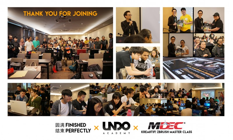 UNDO are honored to be invited by MDEC to open a day Kre8tif! Zbrush Master Class