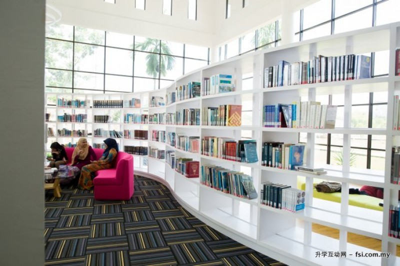 Comfortable  library and 24-hour study area in UNITEN.