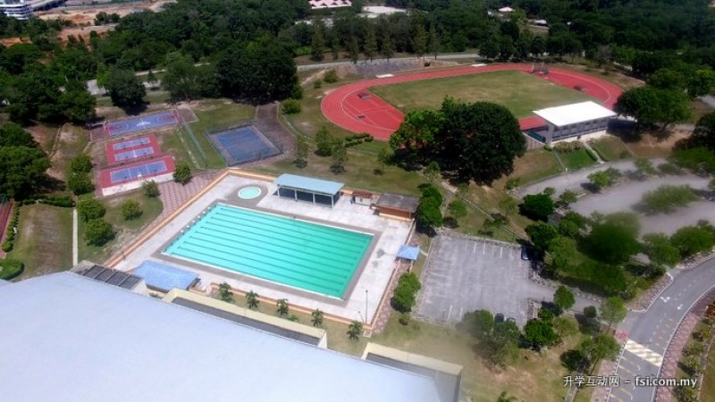 Excellence facilities such as Olympic-sized swimming pool, netball court, basketball court, futsal court and stadium.