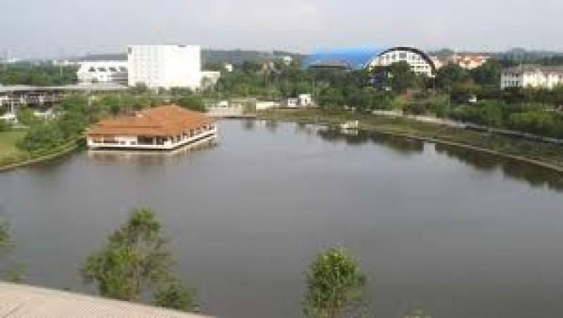 国能大学湖边景色