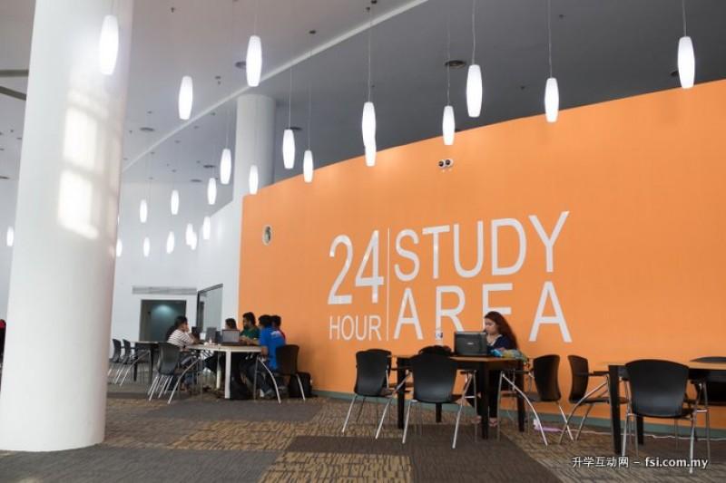 24小时开放的学习专区。