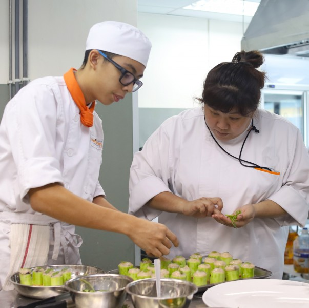 Professional Chefs who specialized in Chinese cuisine provide valuable knowledge and skills to students.