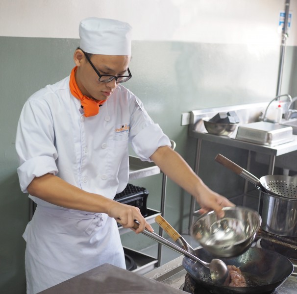 Students will spends 90% of their study time in kitchen for practical learning.