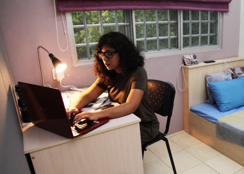 The fully-furnished on-campus hostel can accommodate more than 400 students.