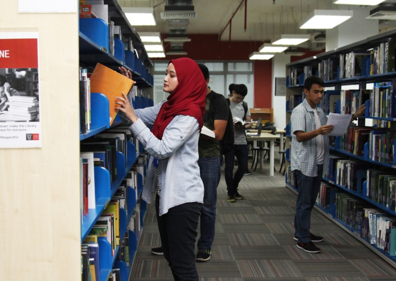 The library provides comprehensive resources and facilities for research and assignment purposes.