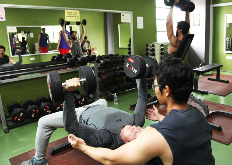 The campus gym is fully equipped to help you stay fit.