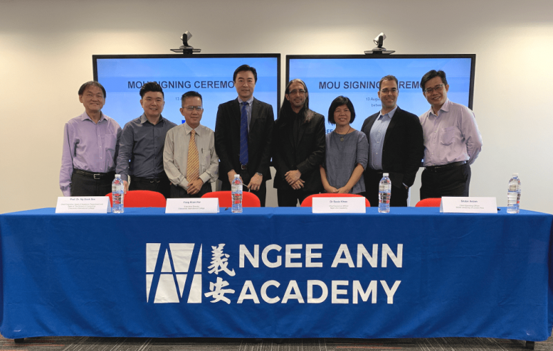 Ngee Ann Academy (NAA) and Crescendo International College have signed a memorandum of understanding at NAA's Campus.