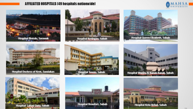 Affiliated hospitals (49 hospitals nationwide)