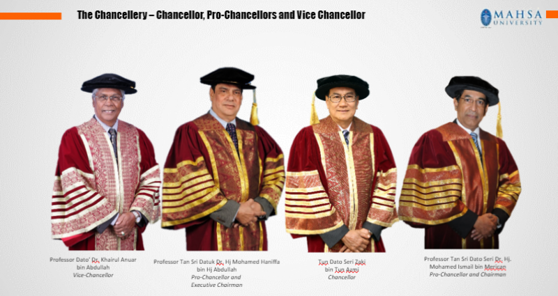 The Chancellery - Chancellor - Pro Chancellors and Vice Chancellor